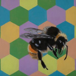 Bumble bee I - oil painting