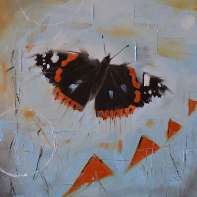 Red Admiral Oil Painting