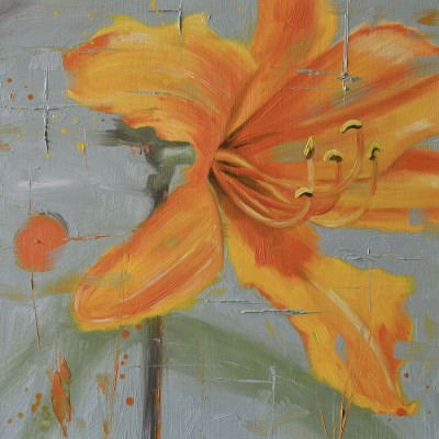 One Day - Oil Painting Of A Day Lily