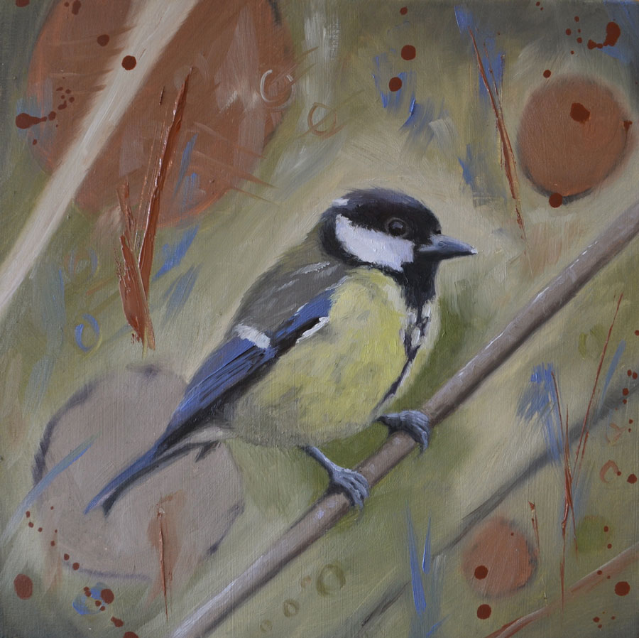 Great Tit Oil Painting