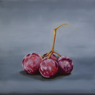 Four Grapes Oil Painting