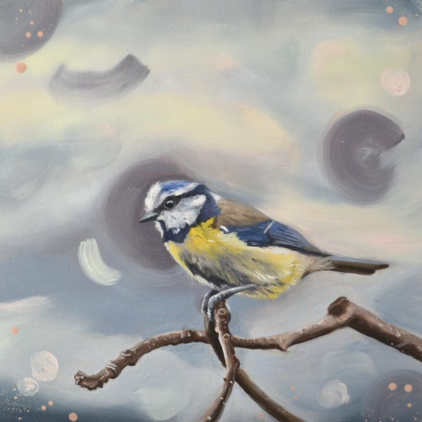 After The Storm Blue Tit Painting