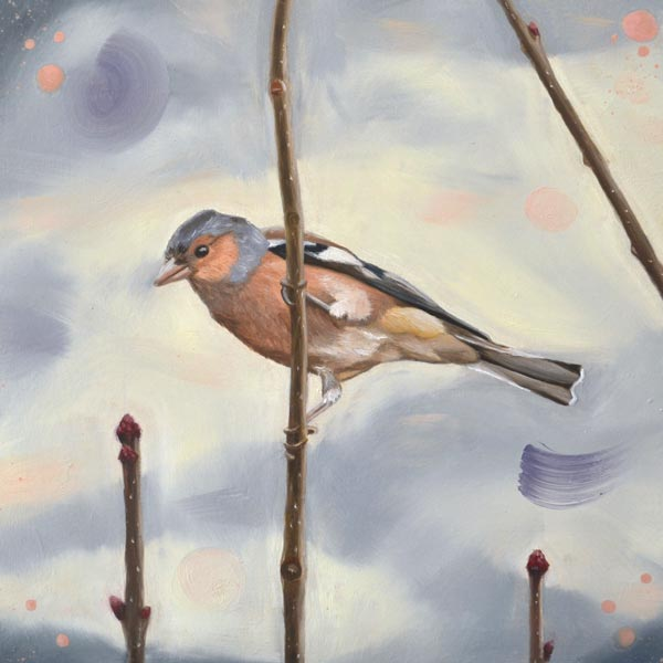 In The Pink Chaffinch Painting