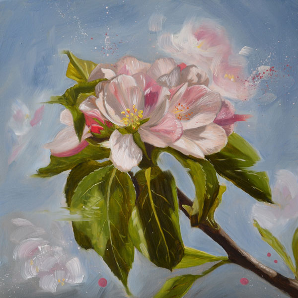 Apple Blossom Oil Painting