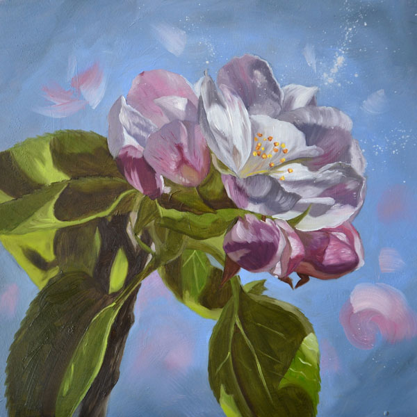 Apple Blossom II Oil Painting
