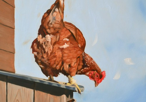 Don't Chicken Out Oil Painting