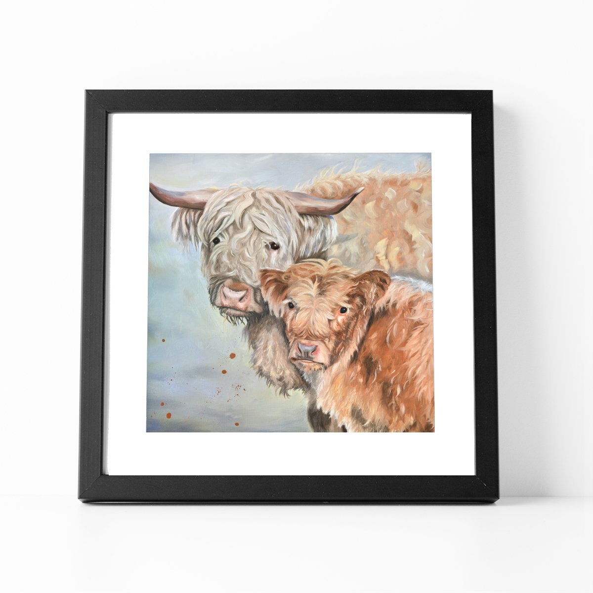 Lumi and Floss framed print