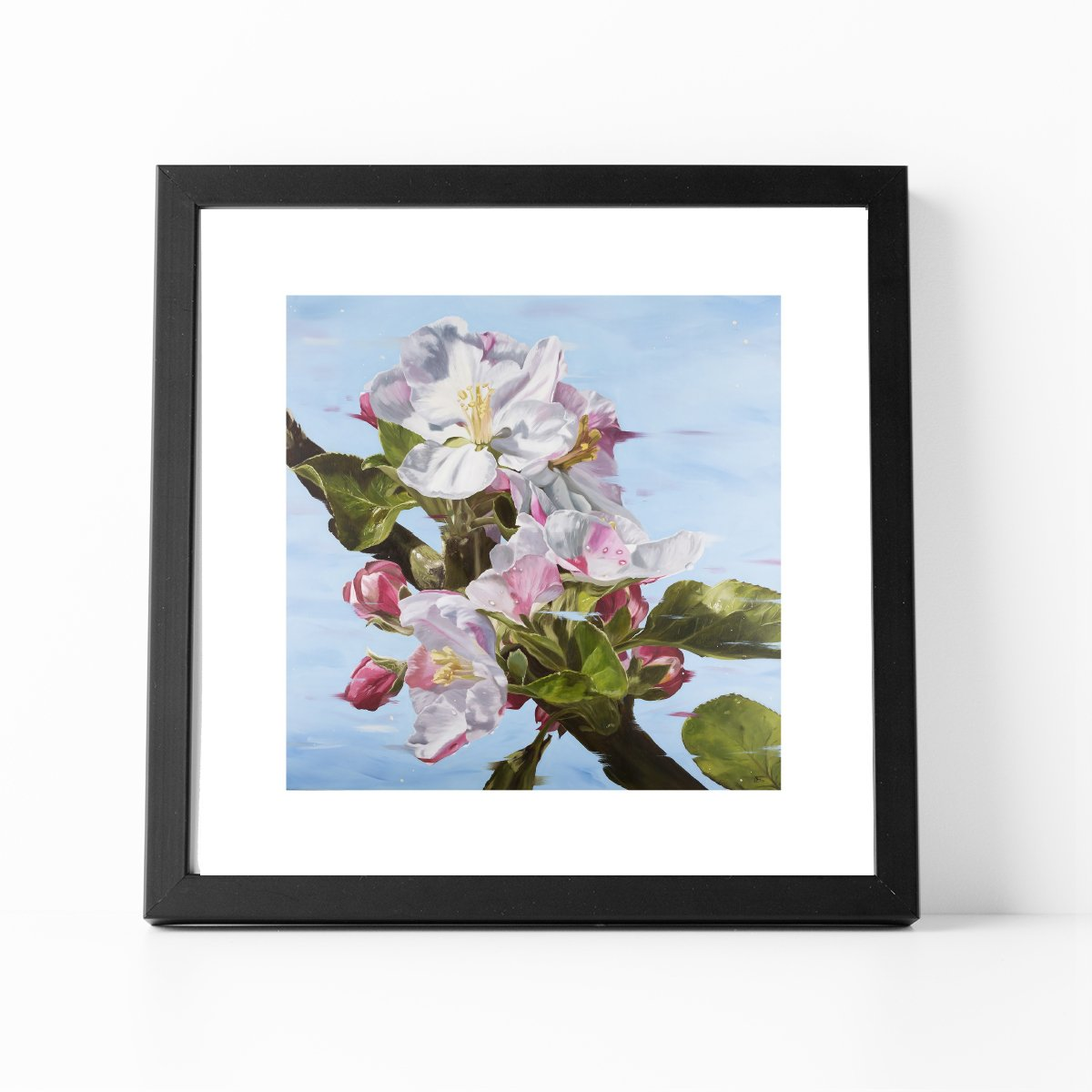 Framed print of The Promise apple blossom painting