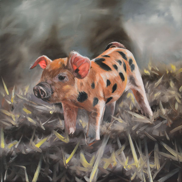 Oil Painting Of Piglet